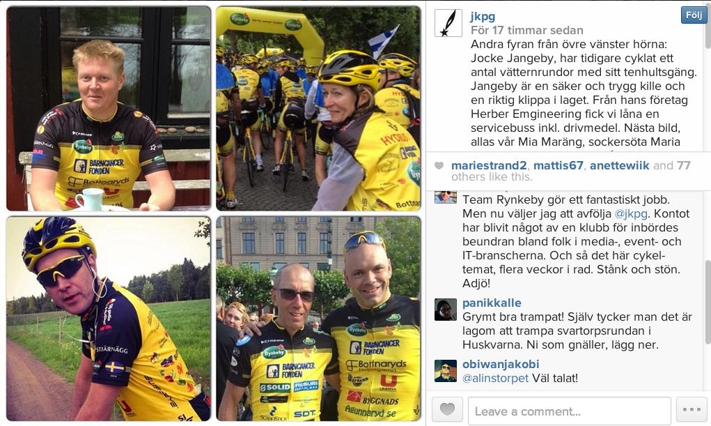Instagram jkpg team rynkeby